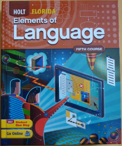 9780030992094: Holt Elements of Language Florida: Student Edition Grade 11 2010 (Fl Eolang 2010)