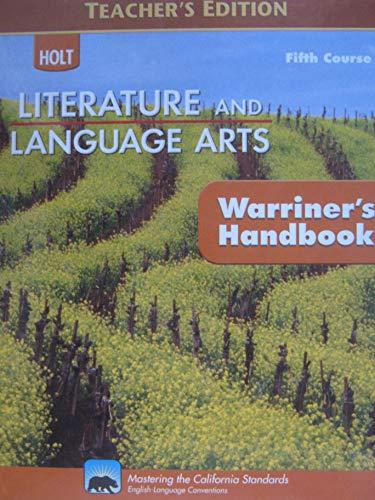9780030992247: California Holt Literature & Language Arts: Holt Handbook, Fifth Course: Grammar, Usage, Mechanics, Sentences