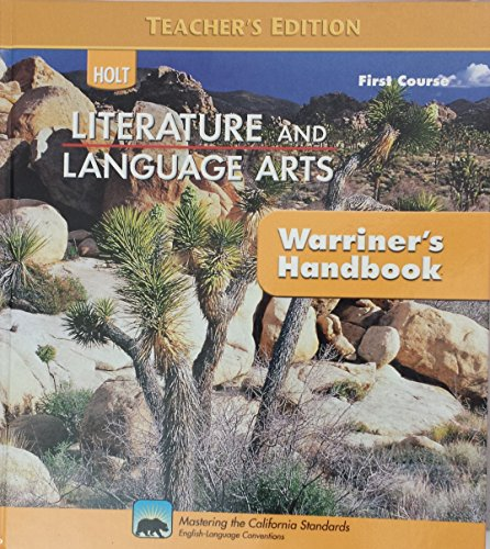 9780030992254: First Course Warriner's Handbook - Teacher's Edition (HOLT Literature and Language Arts)