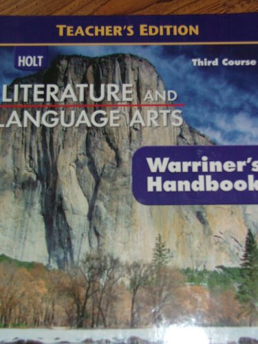 9780030992308: Holt Literature And Language Arts - Teacher's Edition - Third Course - (Warriner's Handbook)