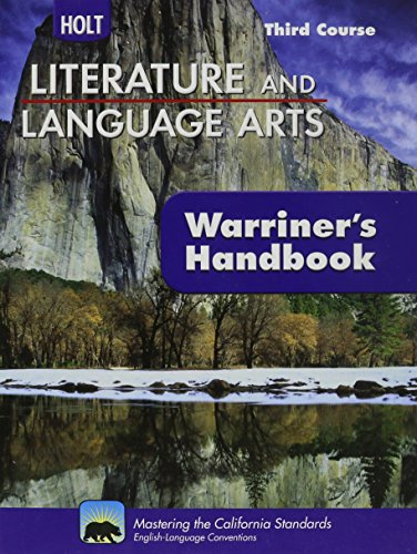 9780030992346: Holt Literature And Language Arts - Third Course - Student Edition Grade 9 - (Warriner's Handbook)
