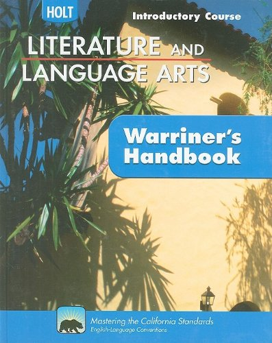 9780030992377: Literature & Language Arts Introductory Course: Holt Literature & Language Arts Warriner's Handbook