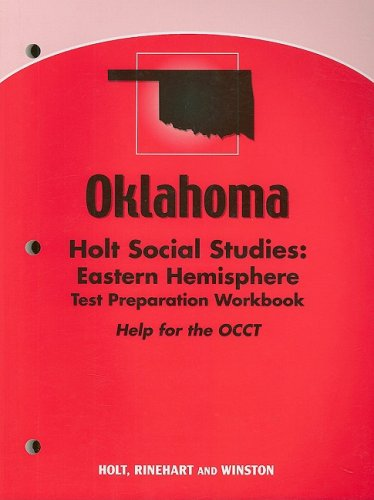 9780030992490: Holt Eastern Hemisphere Oklahoma: Test Preparation Workbook  Grades 6-8