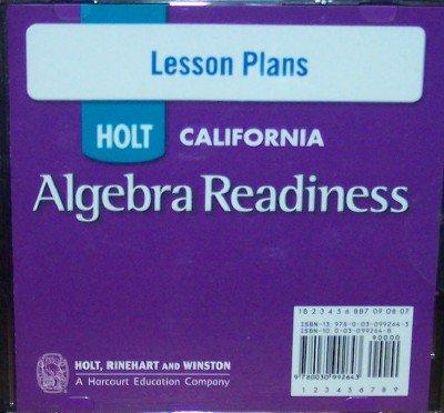 9780030992643: Algebra Readiness Lesson Plans (California)