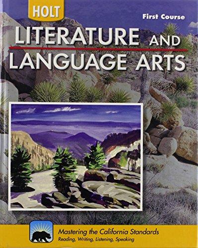 Holt Literature & Language Arts-Mid Sch California: RINEHART AND WINSTON