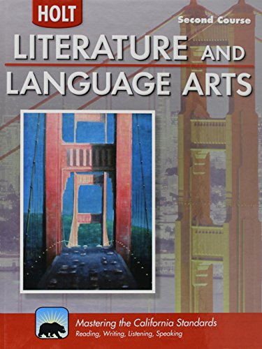 9780030992902: Holt Literature & Language Arts-Mid Sch California: Student Edition Second Course 2010