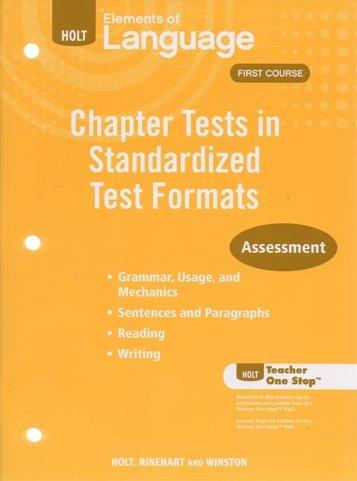 9780030993121: 2009 Holt Elements of Language Standardized Chapter Tests