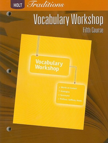 9780030993572: Holt Traditions Warriner's Handbook: Vocabulary Workshop Workbook Grade 11 Fifth Course