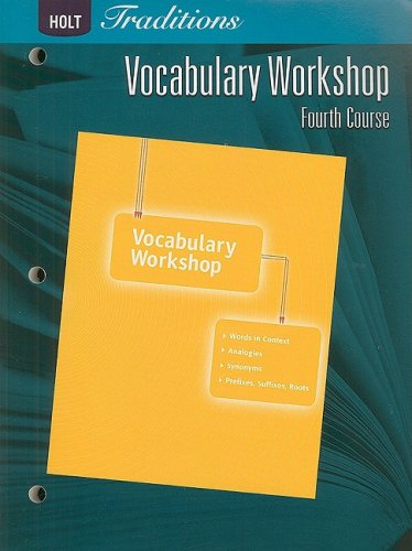 9780030993596: Holt Traditions Vocabulary Workshop, Fourth Course