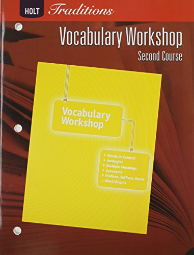 9780030993619: Holt Traditions: Vocabulary Workshop: Student Edition Second Course