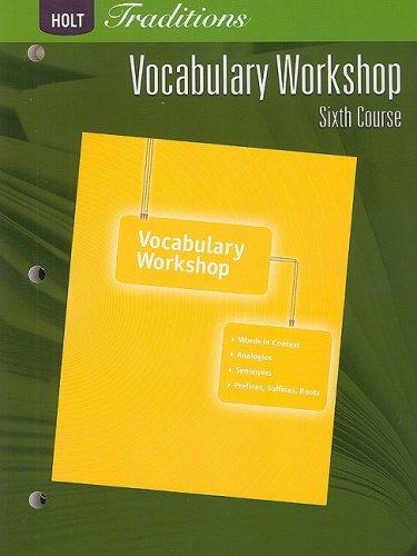 9780030993626: Holt Traditions Warriner's Handbook: Vocabulary Workshop Workbook Grade 12 Sixth Course
