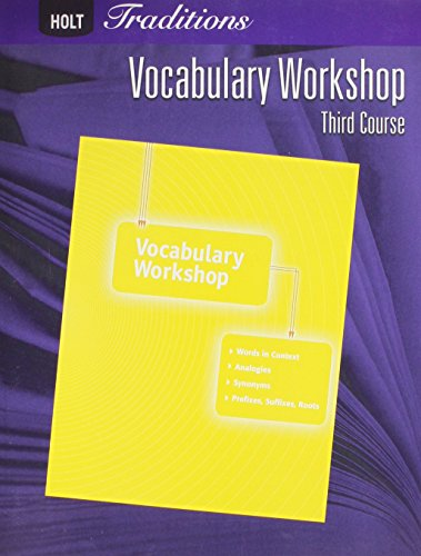9780030993633: Holt Traditions: Vocabulary Workshop: Student Edition Third Course