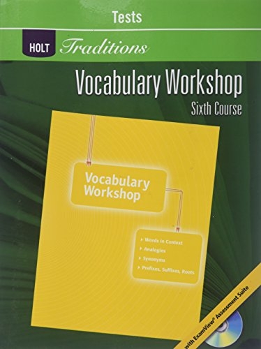 9780030993701: Vocab Wkshp Test G12 Hlt Traditions 2008