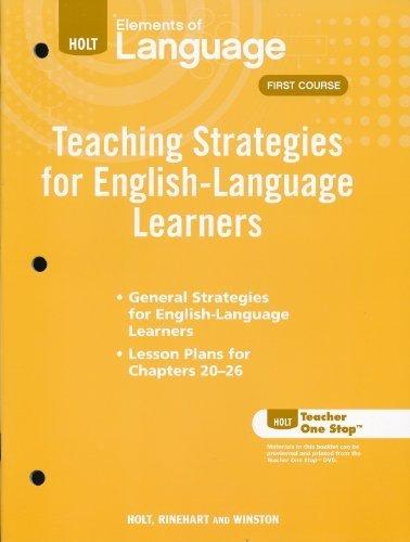 Teaching Strategies for English Language Learners, Grade: Warriner E
