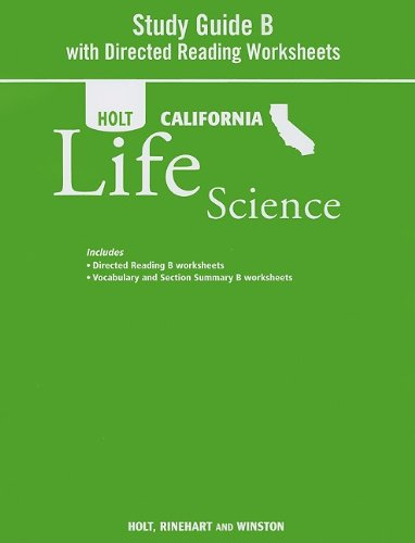 9780030993978: Holt Science & Technology California: Study Guide B With Directed Reading Worksheets Grade 7 Life Science