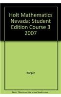 9780030994050: Holt Mathematics Nevada: Student Edition Course 3 2007