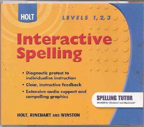 9780030994067: Holt Interactive Spelling Levels 1, 2, 3 (Elements of Literature)