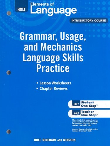 9780030994135: Elements of Language: Grammar Usage and Mechanics Language Skills Practice Grade 6