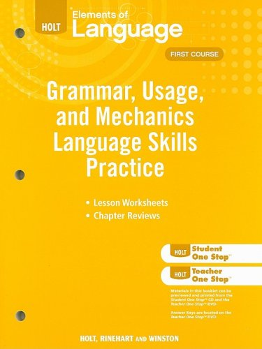 9780030994142: Holt Grammar, Usage, and Mechanics Lanugage Skills Practice: For Chapters 1-17 (Elements of Literature)