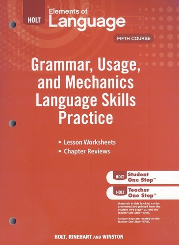 9780030994180: Elements of Language: Grammar Usage and Mechanics Language Skills Practice Grade 11