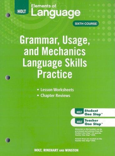 9780030994197: Elements of Language: Grammar Usage and Mechanics Language Skills Practice Grade 12