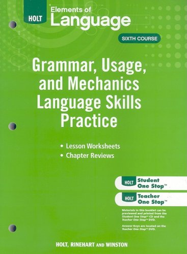 9780030994197: Elements of Language: Grammar Usage and Mechanics Language Skills Practice Grade 12