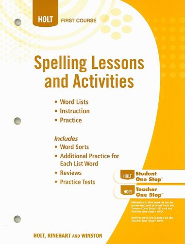 9780030994210: Spelling Lessons and Activities (Elements of Language, 1st Course)