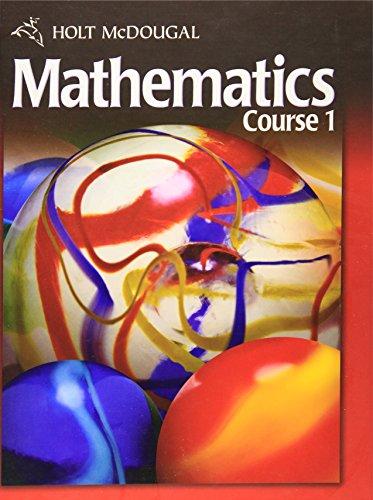 Holt Mcdougal Mathematics Course 1 AbeBooks
