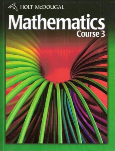 9780030994302: Holt McDougal Mathematics, Course 3, Student Edition