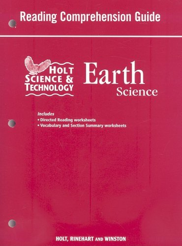 9780030994500: Holt Science and Technology: Life, Earth, and Physical Georgia: Reading Comprehension Guide Earth