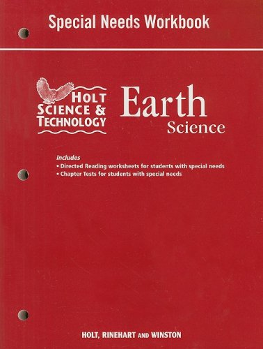 9780030994517: Holt Science and Technology: Life, Earth, and Physical Georgia: Special Needs Workbook Earth