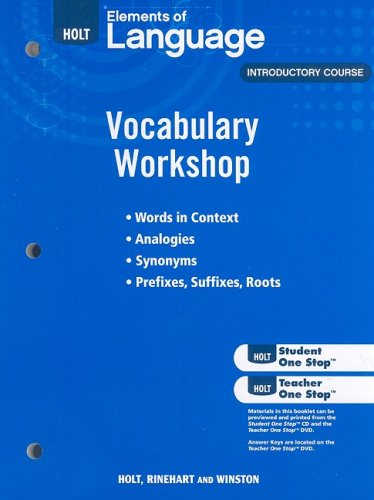 9780030994784: Holt Traditions Vocabulary Workshop
