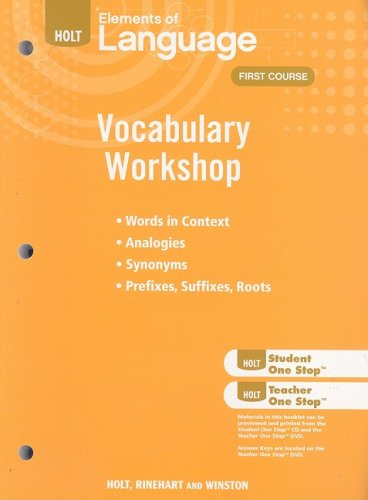 9780030994791: Holt Elements of Language: Vocabulary Workshop: First Course