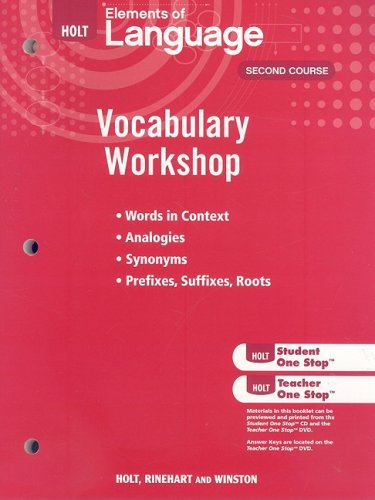 9780030994807: Holt Traditions Vocabulary Workshop