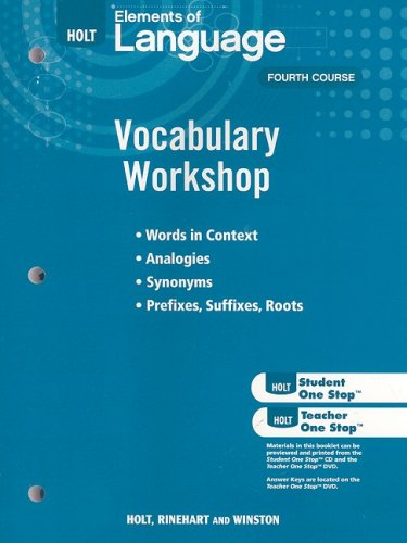 9780030994821: Holt Traditions Vocabulary Workshop