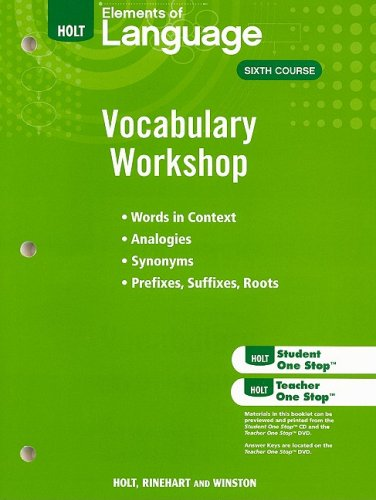 9780030994845: Holt Traditions Vocabulary Workshop
