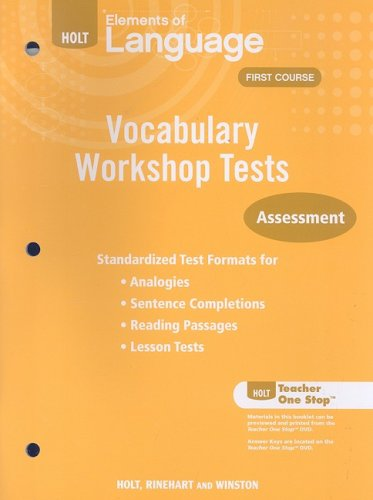 9780030994869: Holt Elements of Language Vocabulary Workshop Tests: Assessment