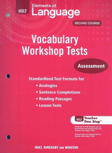 9780030994876: Holt Traditions Vocabulary Workshop: Vocabulary Workshop Tests