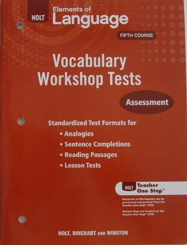 9780030994906: VOCABULARY WRKSHOP TESTS G11 E