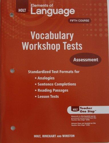 9780030994906: Holt Traditions Vocabulary Workshop: Vocabulary Workshop Tests
