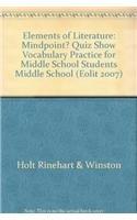 9780030995149: Elements of Literature: Quiz Show Vocabulary Practice Grades 6-8 Middle School