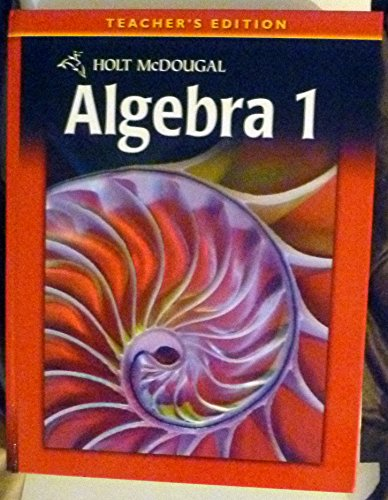 9780030995774: Algebra 1: Teacher's Edition (Holt McDougal Algebra 1)