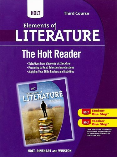 9780030996283: Holt Elements of Literature: The Holt Reader Third Course