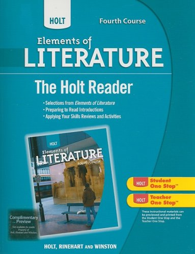 9780030996290: Holt Elements of Literature Fourth Course the Holt Reader (Eolit 2009)