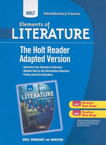 9780030996399: Holt Elements of Literature: The Holt Reader, Adapted Version Introductory Course