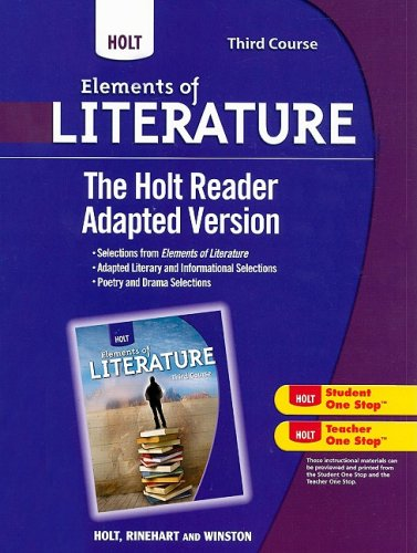 9780030996429: Holt Elements of Literature: The Holt Reader, Adapted Version Third Course
