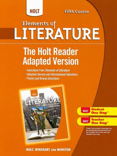 9780030996443: Holt Elements of Literature: The Holt Reader, Adapted Version Fifth Course, American Literature