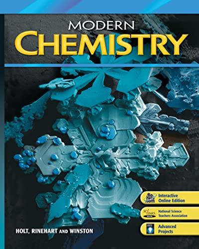 9780030996771: Modern Chemistry: Holt Modern Chemistry Student Edition 2009