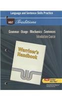 9780030997006: Holt Traditions Warriner's Handbook: Language and Sentence Skills Practice Introductory Course Grade 6