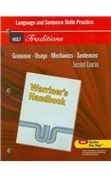 9780030997037: Holt Traditions Warriner's Handbook: Language and Sentence Skills Practice Second Course Grade 8 Second Course